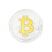 Bitcoin Münze Gold/ Silber
