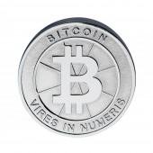 Bitcoin Feuerzeug Silbern