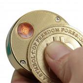Bitcoin Feuerzeug Golden